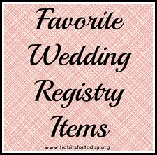 Favorite Wedding Registry Items