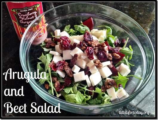 Arugula and Beet Salad | Tidbits for Today